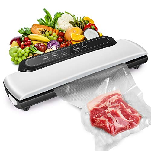 (2021 New Upgraded) Vacuum Sealer Machine, Automatic Food Sealer Machine, Food Vacuum Air Sealing System for Food Preservation Storage Saver, Dry & Moist Food Modes