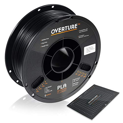 OVERTURE PLA Filament 1.75mm with 3D Build Surface