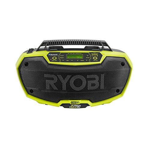 Ryobi P746 One+ 18-Volt Lithium Ion / AC Dual-Powered AM/FM Stereo System