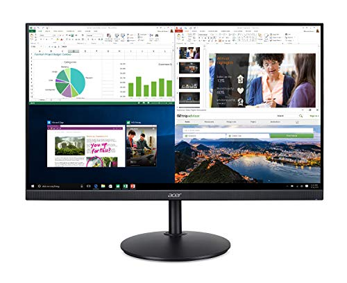Acer CB272 bmiprx 27' Full HD (1920 x 1080) IPS Zero Frame Home Office Monitor with AMD Radeon FreeSync - 1ms VRB, 75Hz Refresh, Height Adjustable Stand with Tilt & Pivot (Display, HDMI & VGA ports)