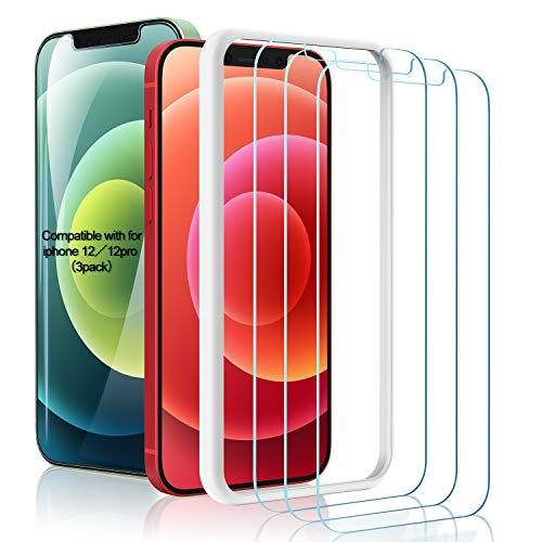 Amuoc Tempered Glass Film for Apple iPhone 12
