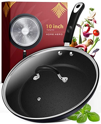 Frying Pan with Lid - 10 Inch Frying Pans Nonstick