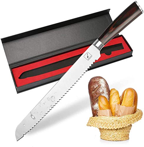 Bread Knife, imarku German High Carbon Stainless Steel Professional Grade Bread Slicing Knife