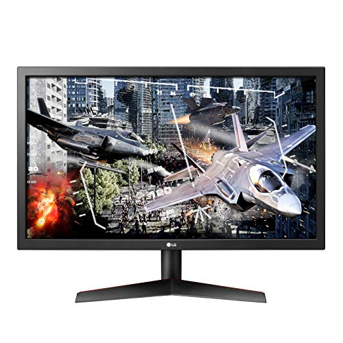 LG UltraGear 24GL600F-B 24 Inch Full HD Gaming Monitor with Radeon FreeSync Technology, 144Hz Refresh Rate, 1ms Response Time - Black