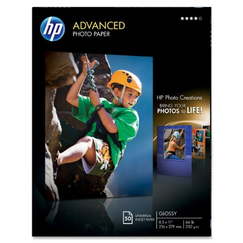 HP Glossy Advanced Photo Paper for Inkjet, 8.5 x 11