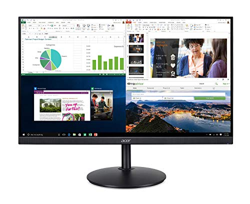 Acer CB242Y bir 23.8' Full HD (1920 x 1080) IPS Zero Frame Home Office Monitor with AMD Radeon Free Sync - 1ms VRB, 75Hz Refresh, Height Adjustable Stand with Tilt & Pivot (HDMI & VGA ports),Black