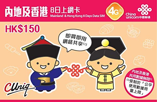 China Unicom Data SIM 2GB (8 Days)
