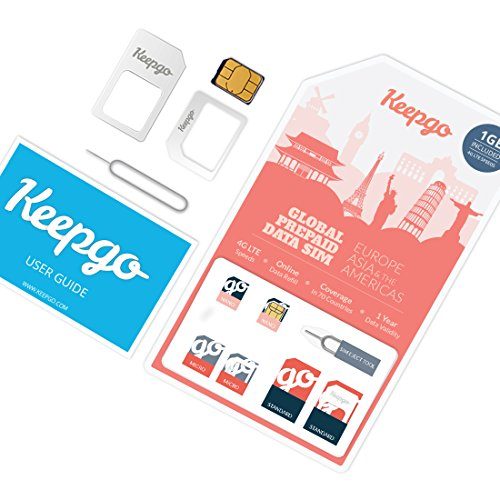 Keepgo Global Lifetime 4G LTE Data SIM Card