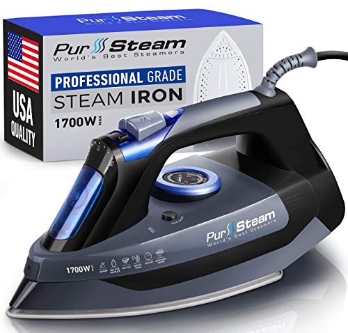 PurSteam Professional Grade 1700W Steam Iron for Clothes