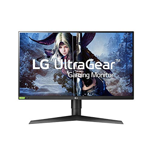 LG 27GL83A-B 27 Inch Ultragear QHD IPS 1ms NVIDIA G-SYNC Compatible Gaming Monitor, Black