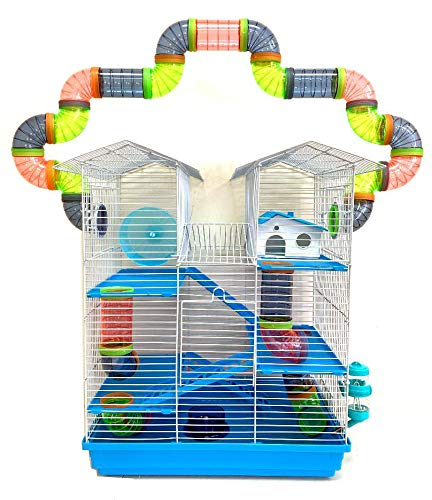 5-Level Large Crossover Plastic Rat Cage