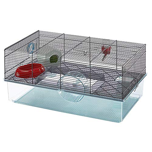Favola Hamster Cage | Includes Free Water Bottle, Exercise Wheel, Food Dish & Hamster Hide-Out