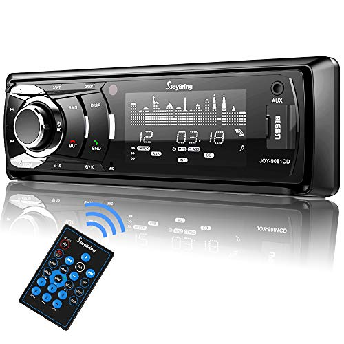 SjoyBring Bluetooth Car Stereo with Wireless SWC Remote