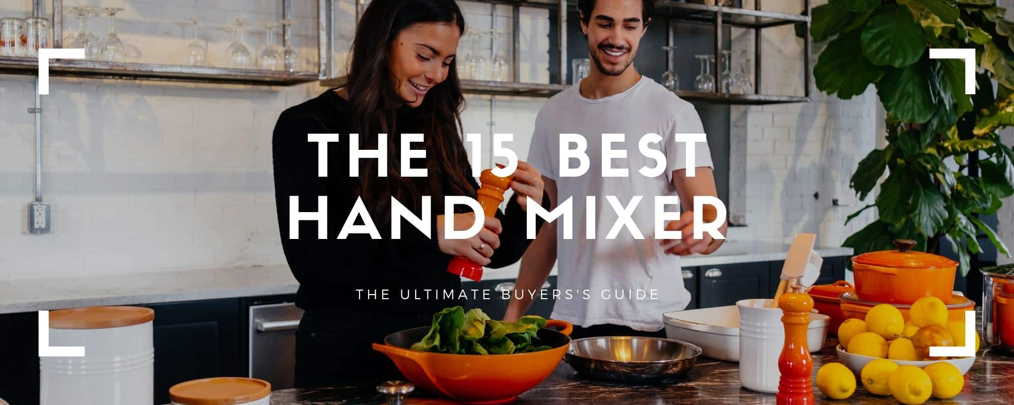 couple cooking with the best hand mixer