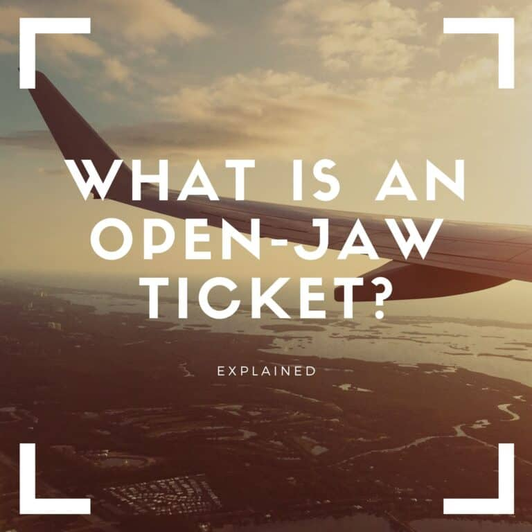 what is open jaw ticket